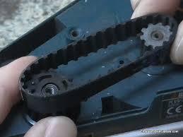 Correa de transmision de un cepillo electrico de carpintero